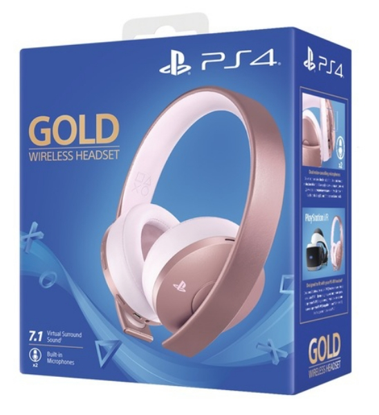 תמונה של PlayStation 4 Gold Wireless Headset Rose Gold