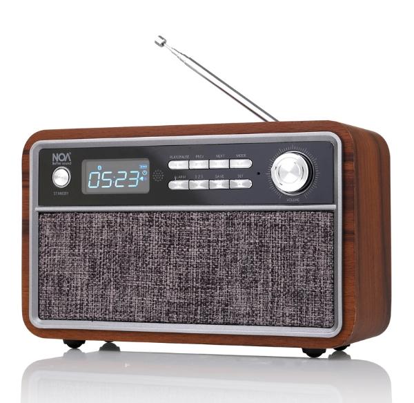 תמונה של רדיו בלוטוס בעיצוב רטרו קלאסי -NOA sound box V300